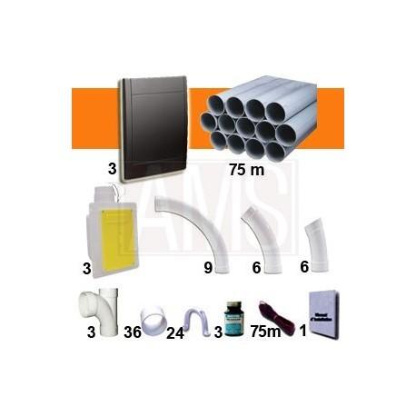 Kit 3 prise Noires RETRAFLEX Nouvelle génération