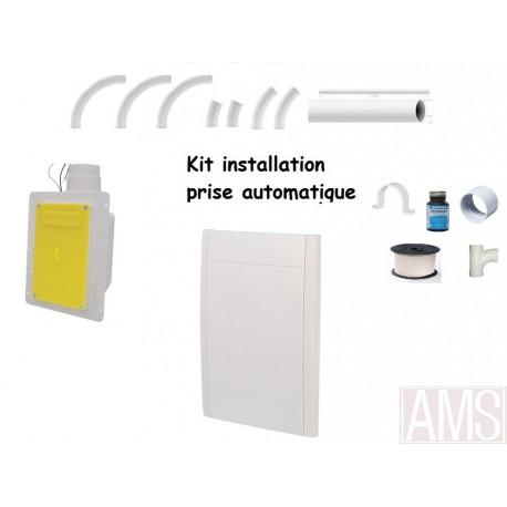 15-18M Kit installation 1 prise  auto rétractable