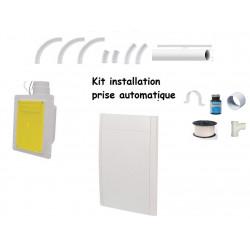 Kit installation 2 prises blanche auto rétractable  9-12M
