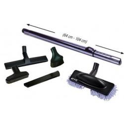 Pack tube télescopique + 5 accessoires