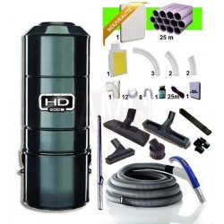 Centrale HD801C + Kit 1 prise Rétraflex 15m