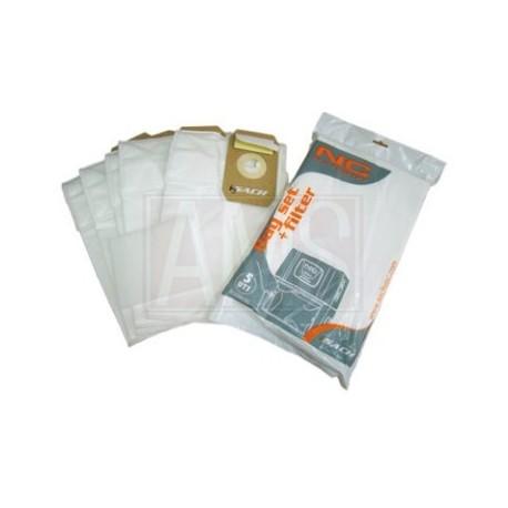 Set 5 sacs à poussière + Filtre New concept
