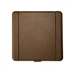 Prise métal carrée bronze
