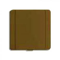 Prise métal carrée brun
