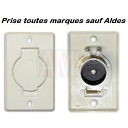 Prise PVC rectangle clapet rond