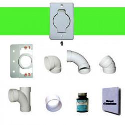 Kit d'installation 1 prise claquet rond