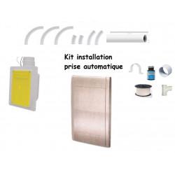 9-12M Kit installation 1 prise acier inoxydable auto rétractable