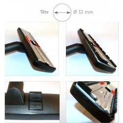 Brosse combinée mixte noire métal