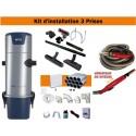 Centrale TS2 + Kit 3 Prises + Flexible à variateur de vitesse & Brosses