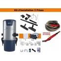 Centrale TS1 + Kit 3 Prises + Flexible à variateur de vitesse & Brosses