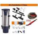 Centrale TC3 + Kit 3 Prises + Flexible à variateur de vitesse & Brosses