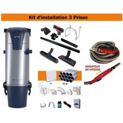 Centrale TC4 +  + Kit 3 Prises + Flexible à variateur de vitesse & Brosses