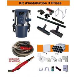 Centrale TX1A + Kit 3 Prises + Flexible à variateur de vitesse & Brosses