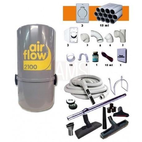 AirFlow 2100w Set flexible on off / 9.10m + accessoires + Kit 2 prises