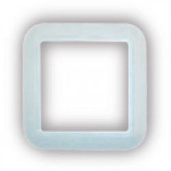 Cadre blanc carrée prise